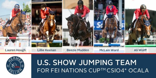 © USEF: US Equestrian Names Hermès U.S. Show Jumping Team for FEI Nations Cup™ CSIO4* Ocala