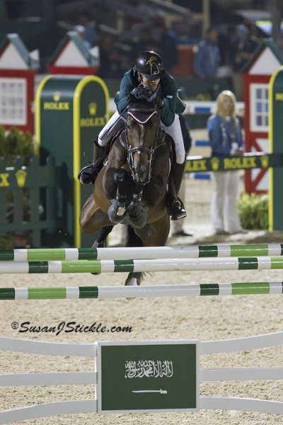 © Susan J Stickle: Abdullah Al Sharbatly and Hickstead